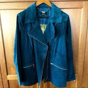 NWT Dennis Basso Washable Leather Suede Jacket